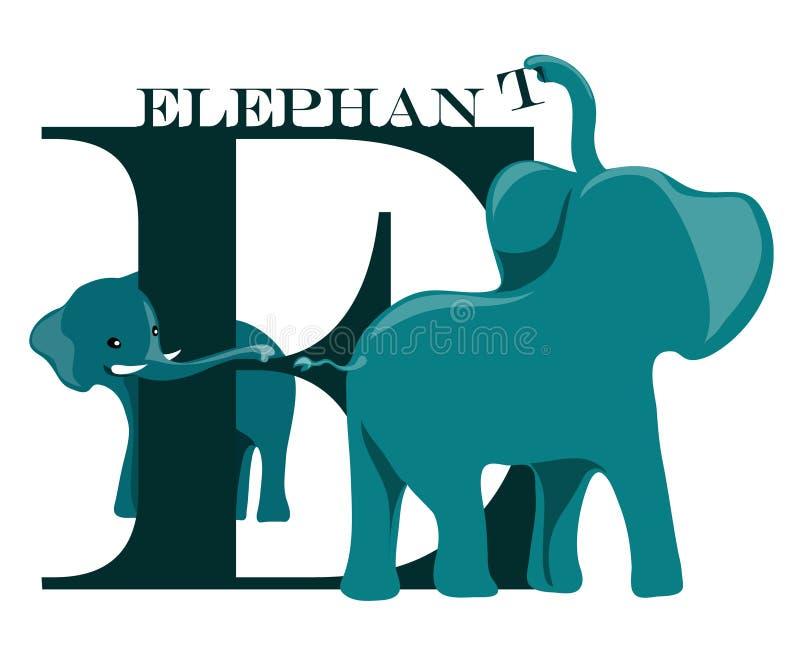 e-elefant stock illustrationer
