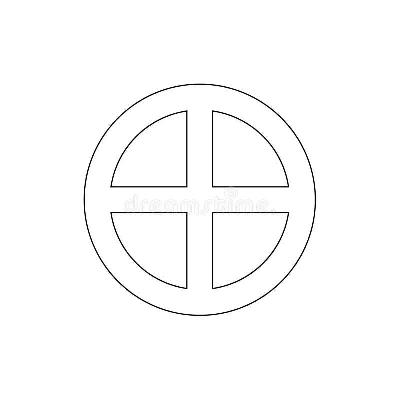 E Element der Religionssymbolillustration Zeichen und Symbolikone k?nnen f?r Netz, Logo benutzt werden lizenzfreie abbildung