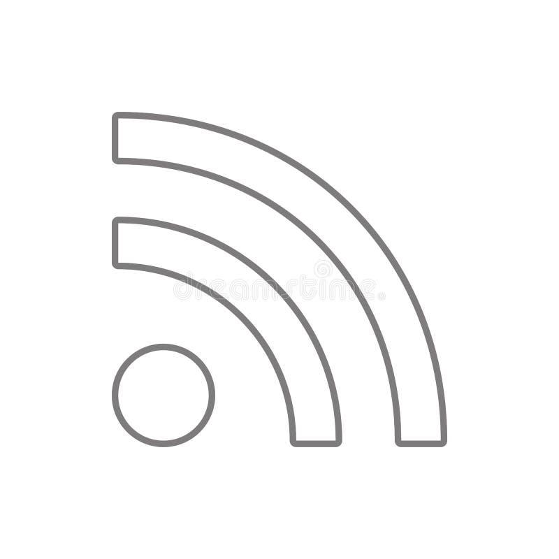 E Element van cyberveiligheid voor mobiel concept en webtoepassingenpictogram Dun lijnpictogram voor websiteontwerp en ontwikkeli stock illustratie