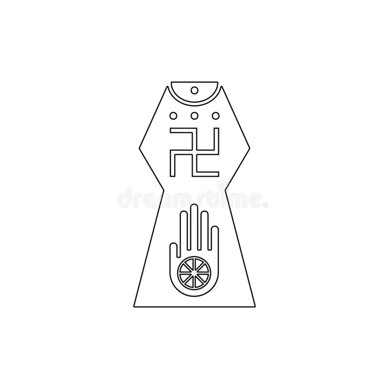 E Element van de illustratie van het godsdienstsymbool Tekens en symbolen het pictogram kan voor Web, embleem worden gebruikt, royalty-vrije illustratie