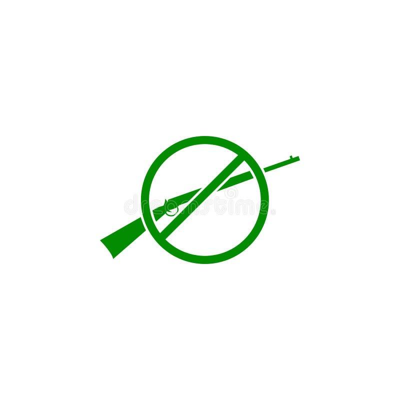 E Elemento del icono de protección de la naturaleza para los apps móviles del concepto y del web r stock de ilustración