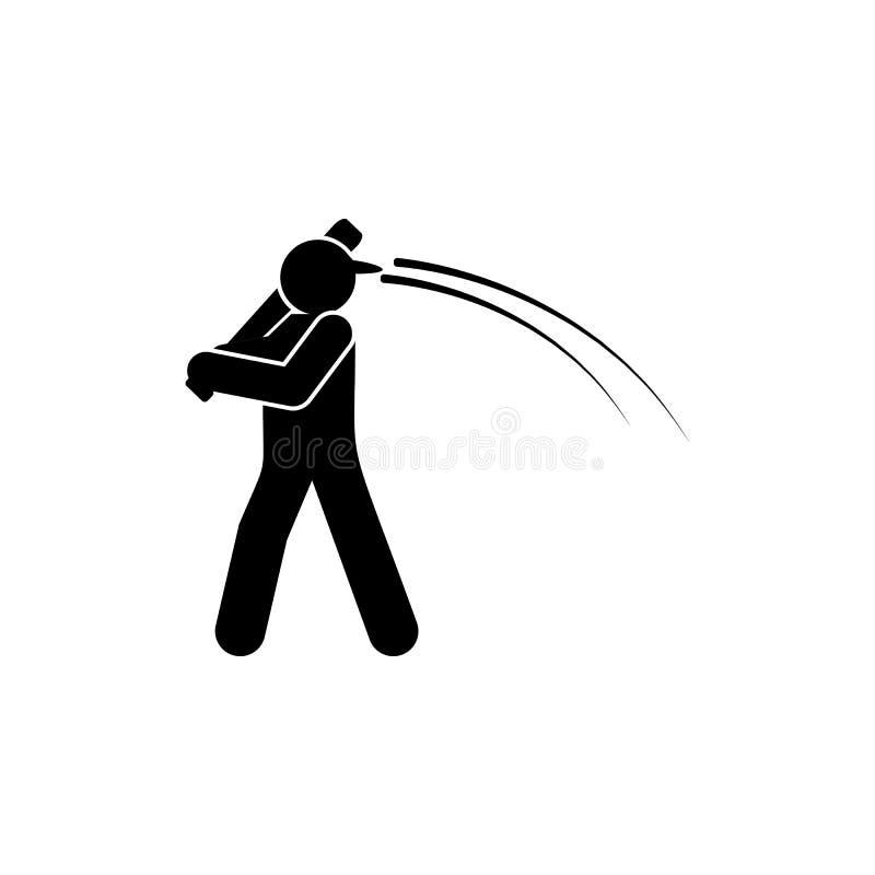 E Elemento del icono del ejemplo del deporte del b?isbol Las muestras y los s?mbolos se pueden utilizar para la web, logotipo, m? libre illustration