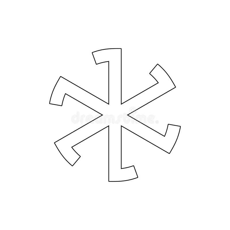 E Elemento dell'illustrazione di simbolo di religione I segni e l'icona di simboli possono essere usati per il web, logo royalty illustrazione gratis