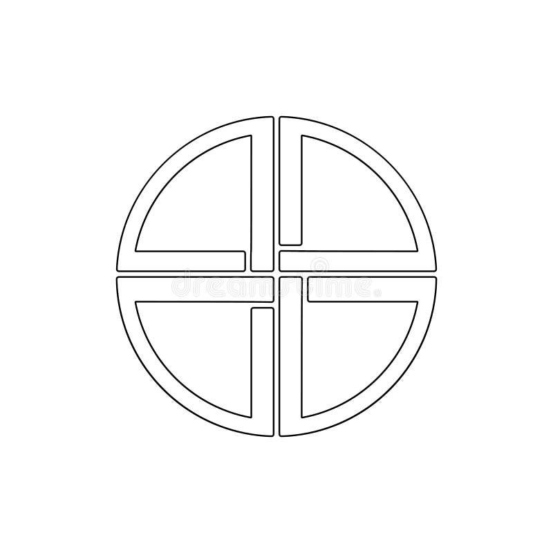 E Elemento dell'illustrazione di simbolo di religione I segni e l'icona di simboli possono essere usati per il web, logo illustrazione vettoriale