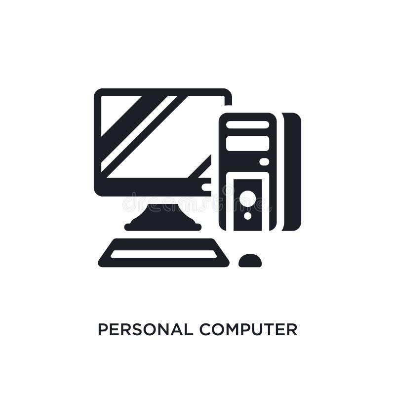 E enkel beståndsdelillustration från begreppssymboler för elektroniska apparater r stock illustrationer