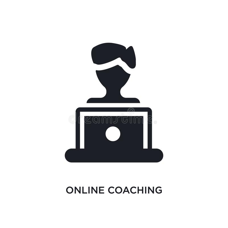 E enkel beståndsdelillustration från e-lära och utbildningsbegreppssymboler r stock illustrationer