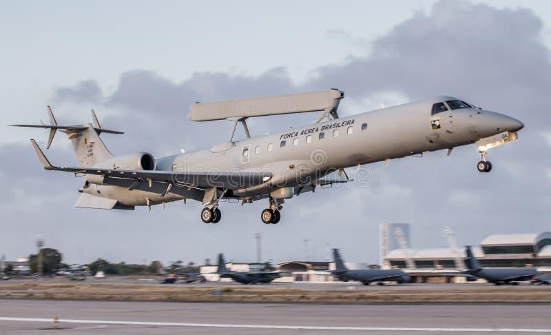 E-99 ERJ-145 do FABULOSO na operação Cruzex fotografia de stock