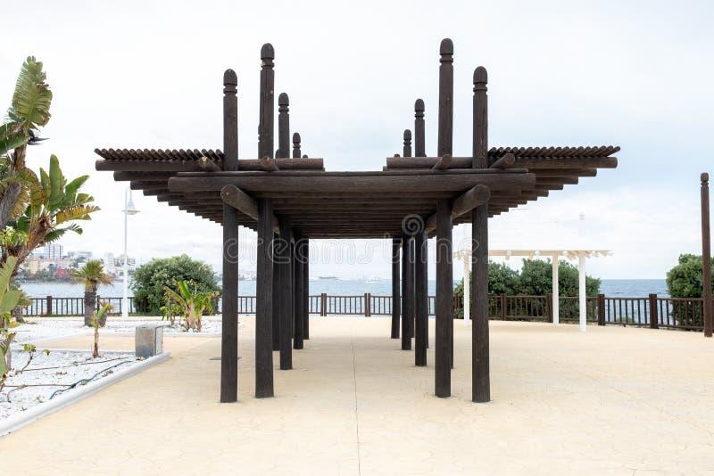E Estrutura de madeira fotografia de stock royalty free