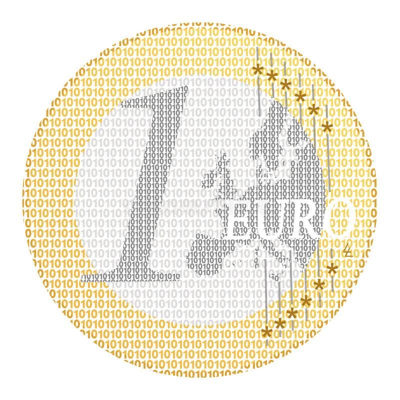 e-eurobetalning stock illustrationer