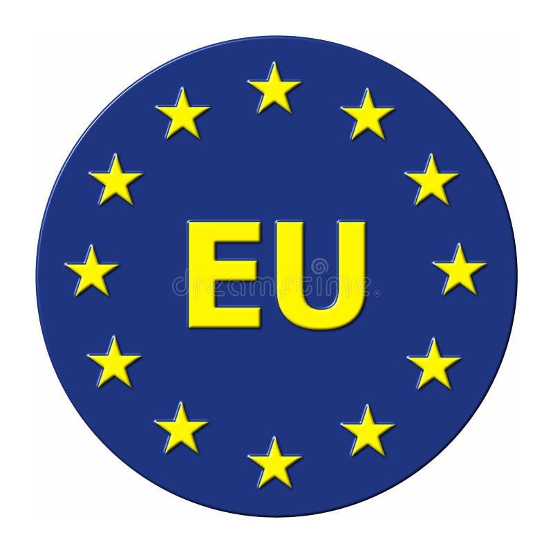e-. - Europeiska union vektor illustrationer
