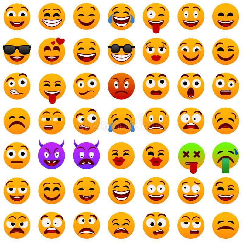 E Expressão facial Ilustração do vetor Personagem de banda desenhada engraçado r modo Ícone do Web ilustração stock
