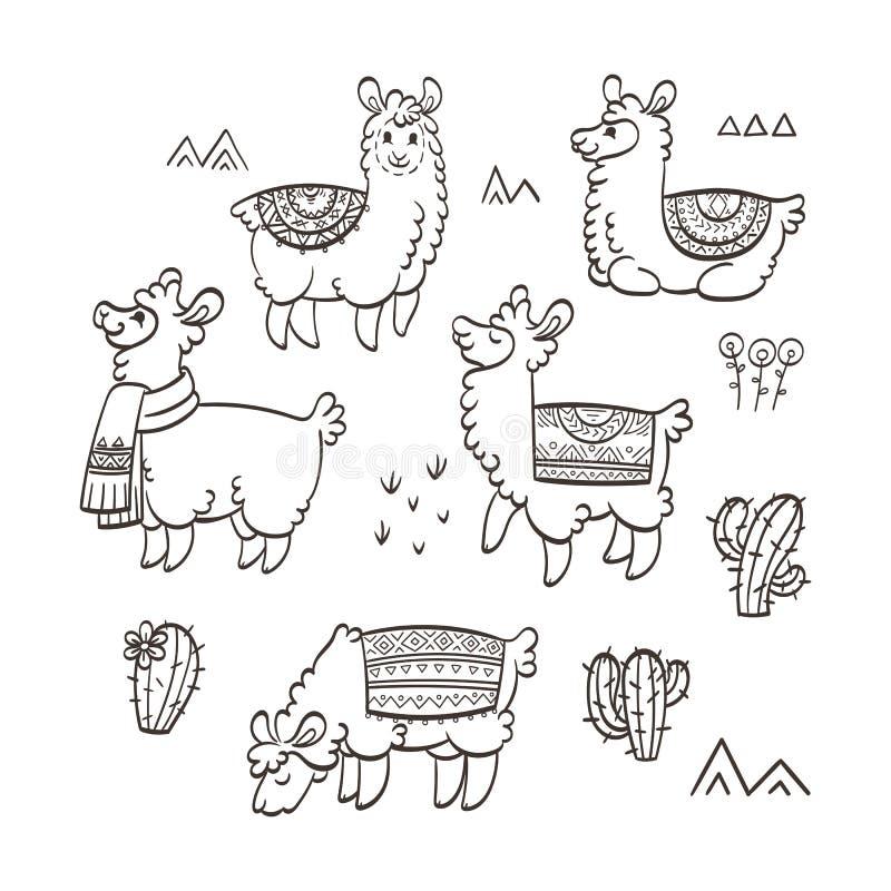 E Färgpulvervektorillustration r stock illustrationer