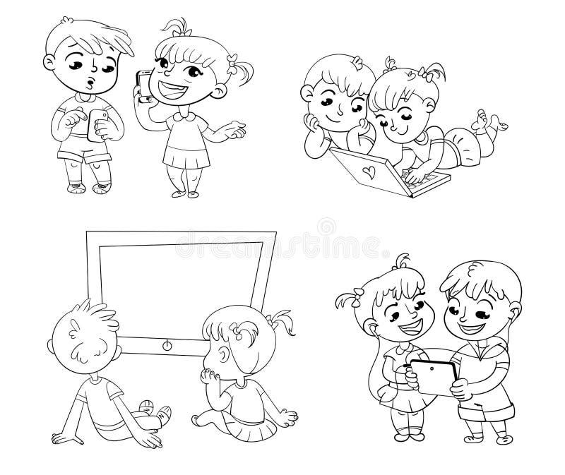 E för färgläggningdiagram för bok färgrik illustration royaltyfri illustrationer