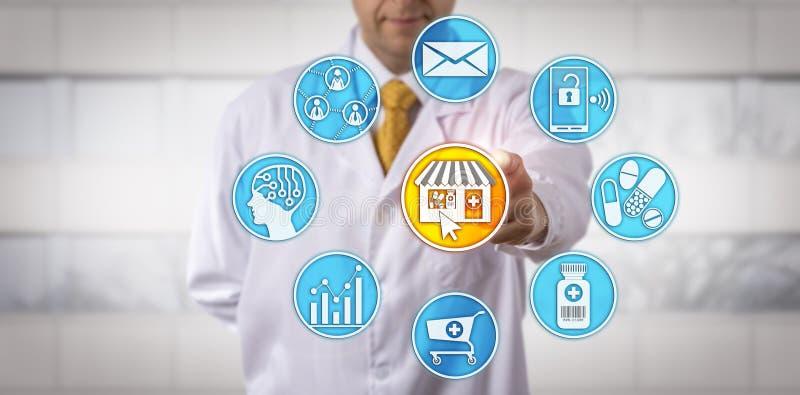 E-farmácia varejo de Starting do farmacêutico do independente fotos de stock royalty free