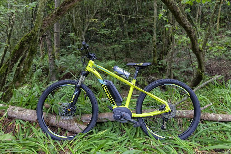 E-fiets van het Spaanse merk Orbea en Keram 20 model royalty-vrije stock foto