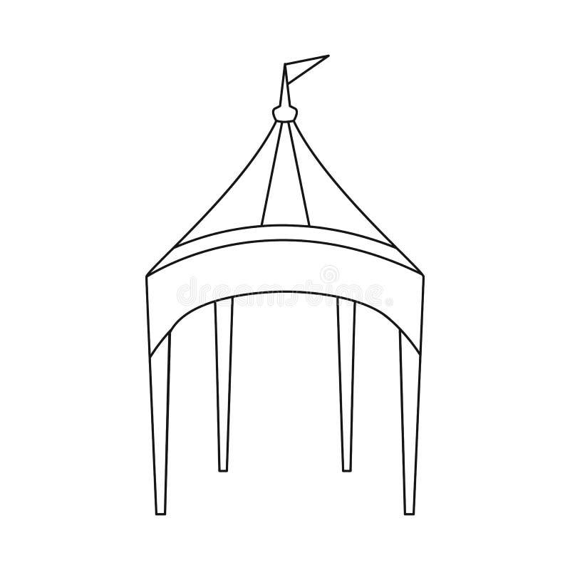 E Fije del ejemplo del vector de la acci?n del toldo y de la sombrilla ilustración del vector