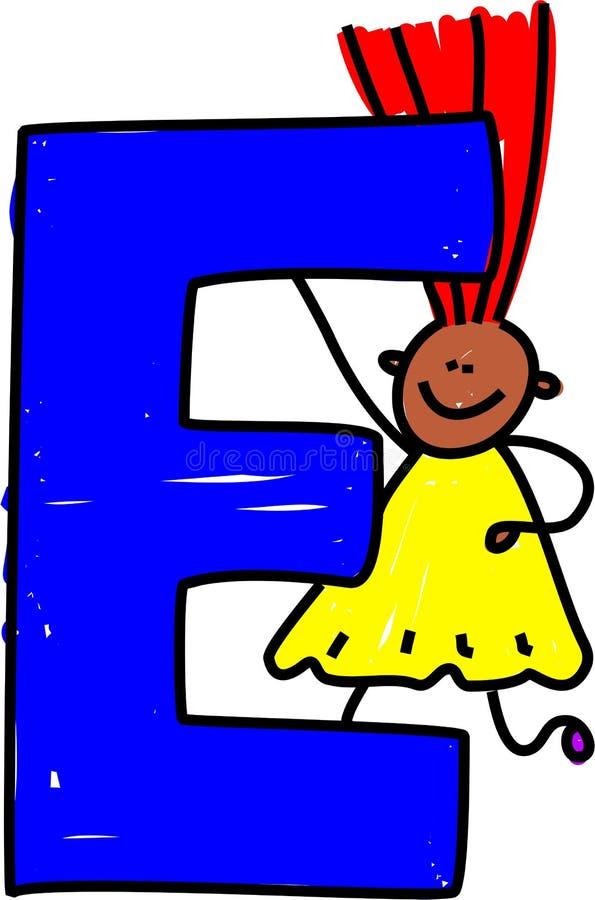 e-flickabokstav royaltyfri illustrationer