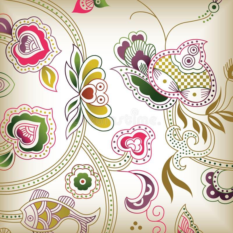 E floreale astratta royalty illustrazione gratis
