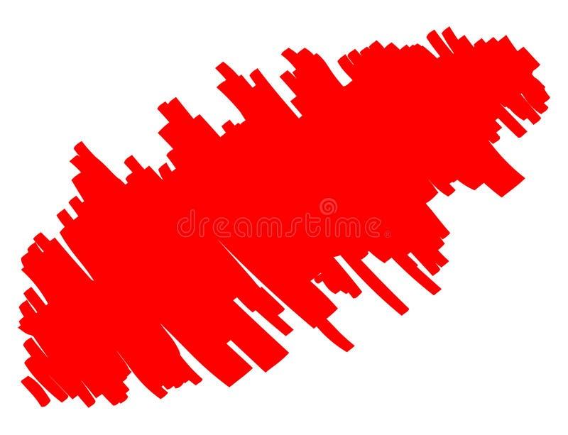 E Fond abstrait rouge illustration stock