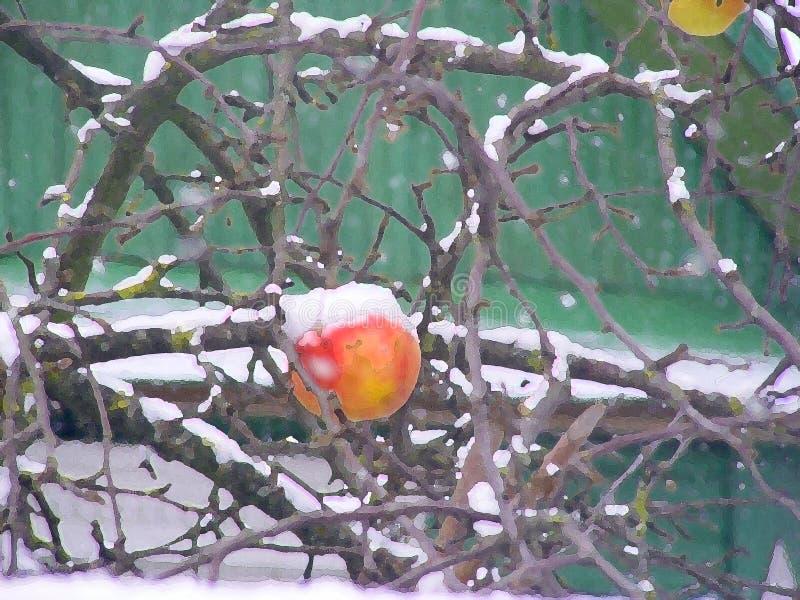 E Fond de flocons de neige de l'hiver r photos stock