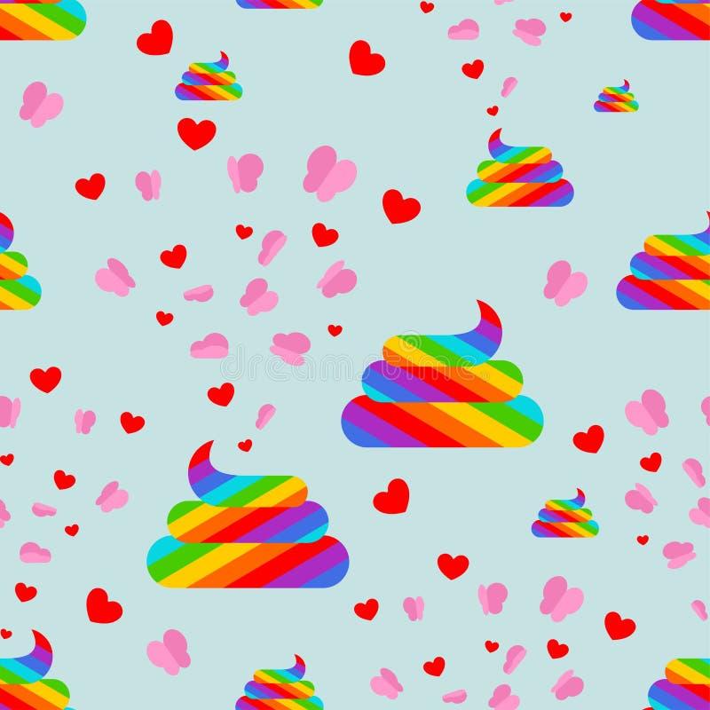 E Fundo colorido do turd do arco-íris ilustração do vetor