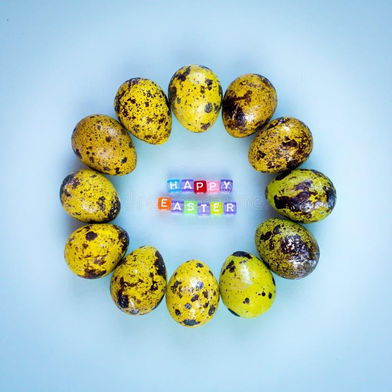 E Fundo do feriado Molde colorido da Páscoa imagens de stock