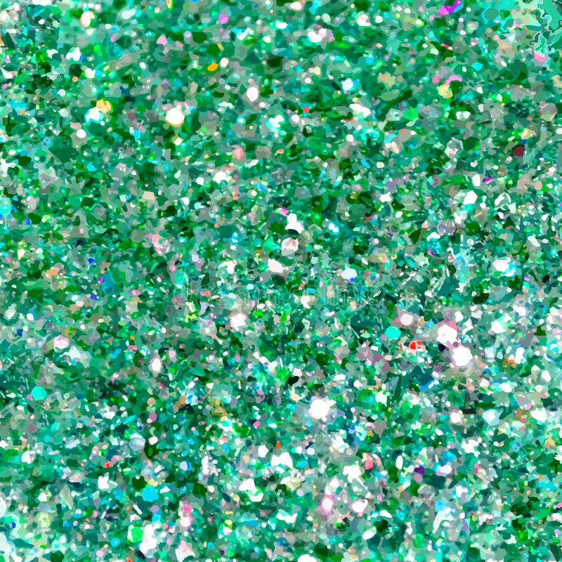 E Fundo verde do glitter O fundo elegante do sumário brilhante vislumbra Vetor ilustração stock