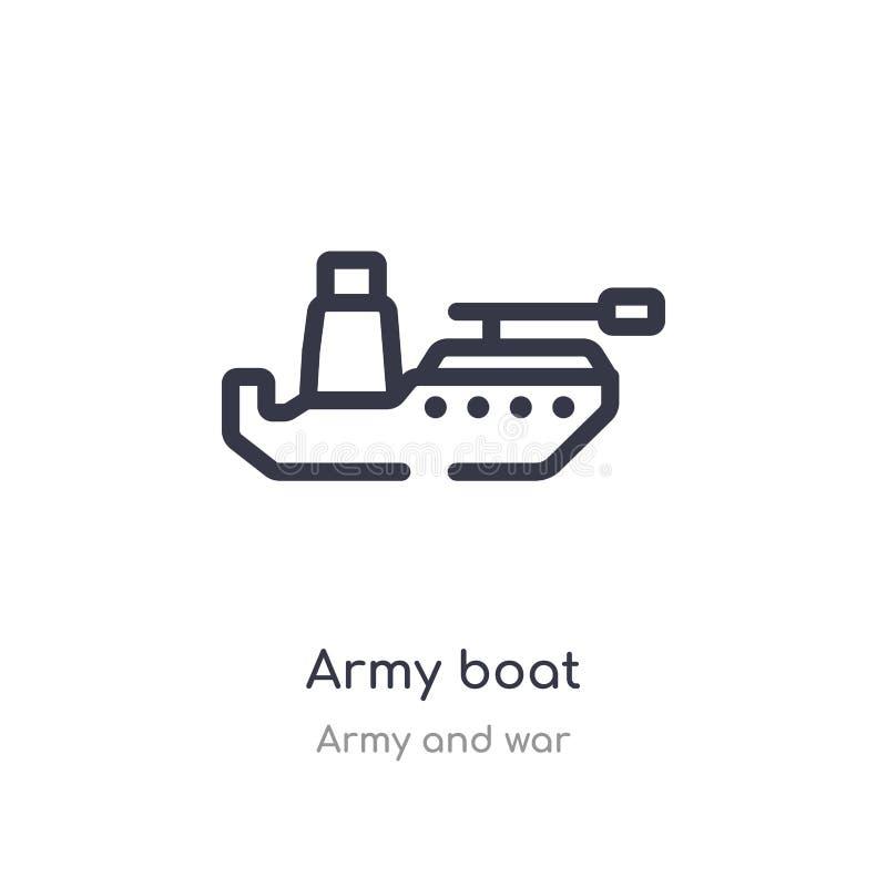 E ge?soleerde lijn vectorillustratie van leger en oorlogsinzameling r vector illustratie