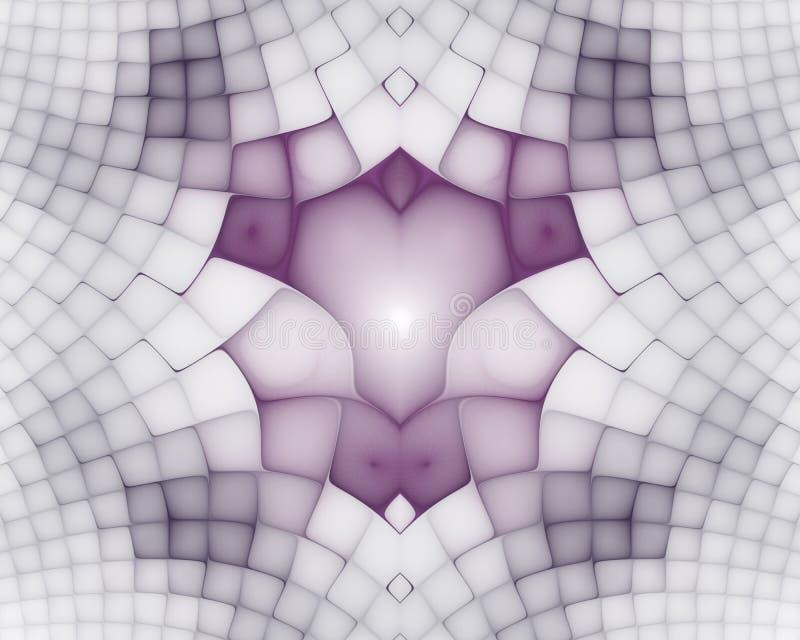 E Geometrische, organische vormen r stock illustratie