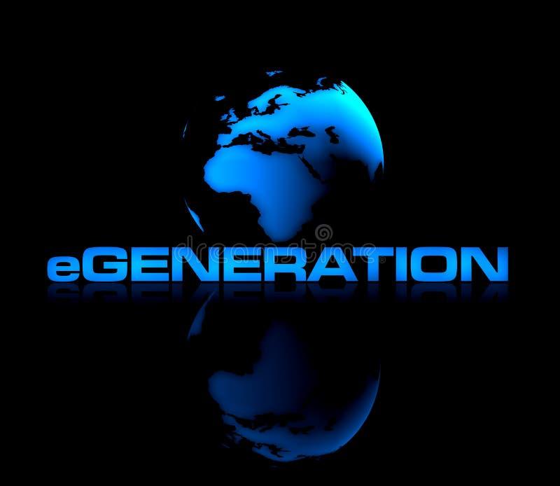 E-Geração ilustração stock