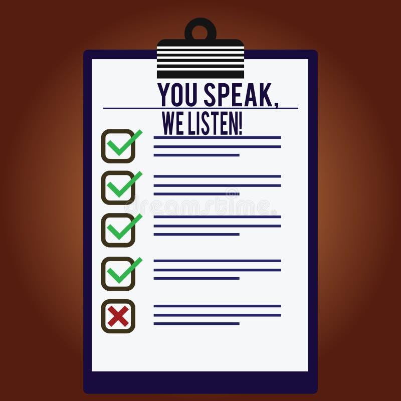 E Geschäftskonzept für Communicate zu uns Ihre Gefühle und Informationen gezeichnete Farbe stock abbildung