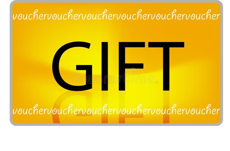 E-gift Bon vector illustratie