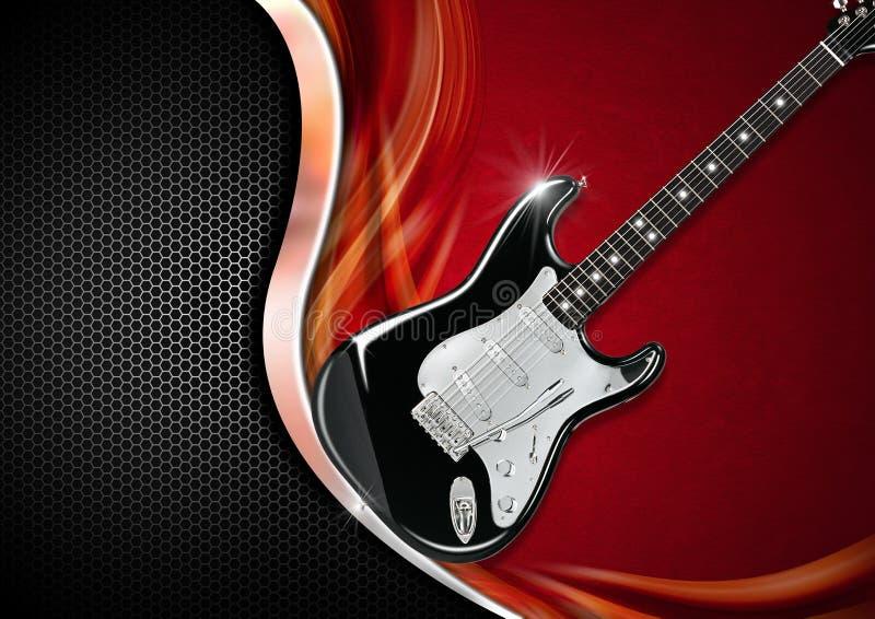 E-Gitarre auf Luxushintergrund vektor abbildung