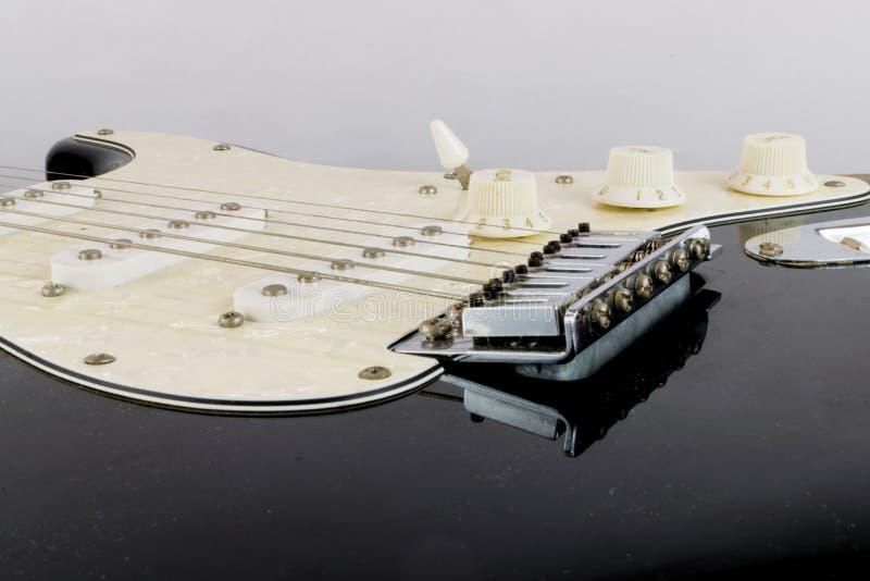 E-Gitarren-Aufnahmen schließen oben stockfotografie