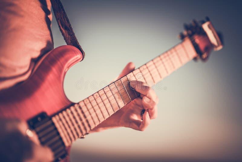 E-Gitarren-Meister stockfoto