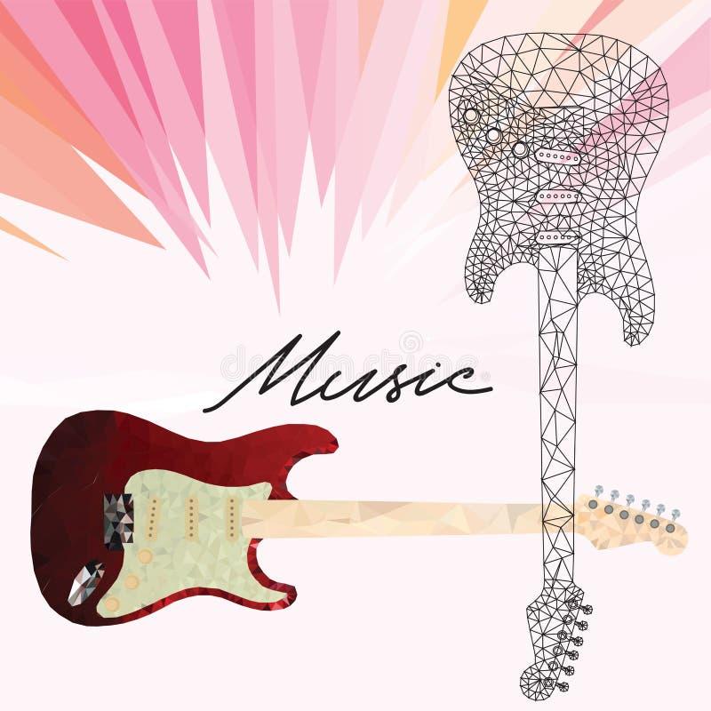 E-Gitarren-Vektorikonen eingestellt Gebrauch als Ikonen, Elemente für lo lizenzfreie abbildung