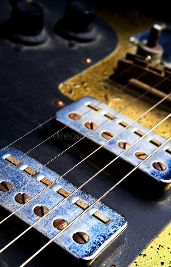 E-Gitarrennahaufnahme stockfoto