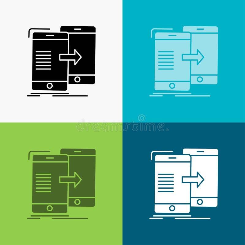 E glyph stijlontwerp, voor Web dat en app wordt ontworpen Eps 10 stock illustratie