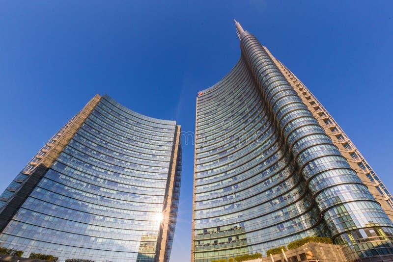 E Gratte-ciel en Milan Italy photos stock