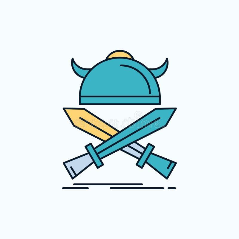 E groene en Gele teken en symbolen voor website en Mobiele appliation Vector royalty-vrije illustratie