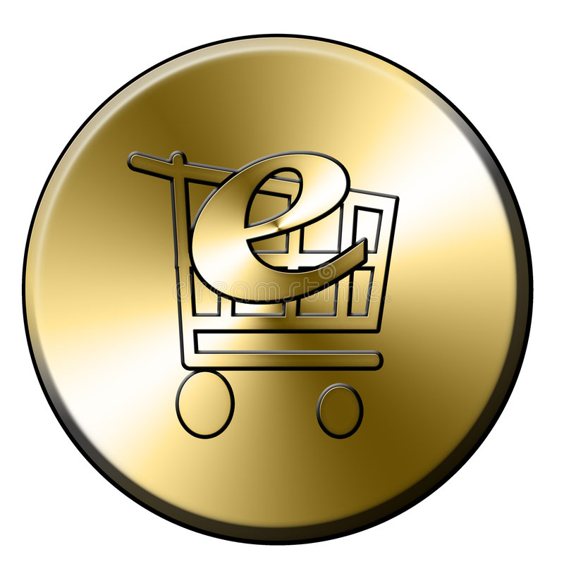 E-hace compras el botón libre illustration