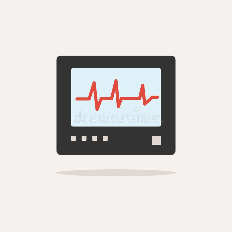E heartbeat ilustración del vector