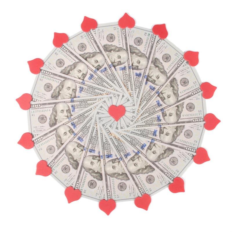 E Het abstracte geld achtergrondroosterpatroon herhaalt mandalacirkel stock foto's