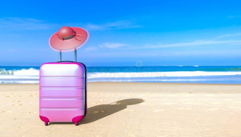 E Het concept van de reisbagage royalty-vrije illustratie