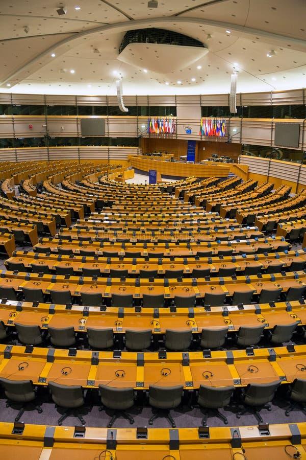 E. - het Europees Parlement Brussel royalty-vrije stock afbeelding