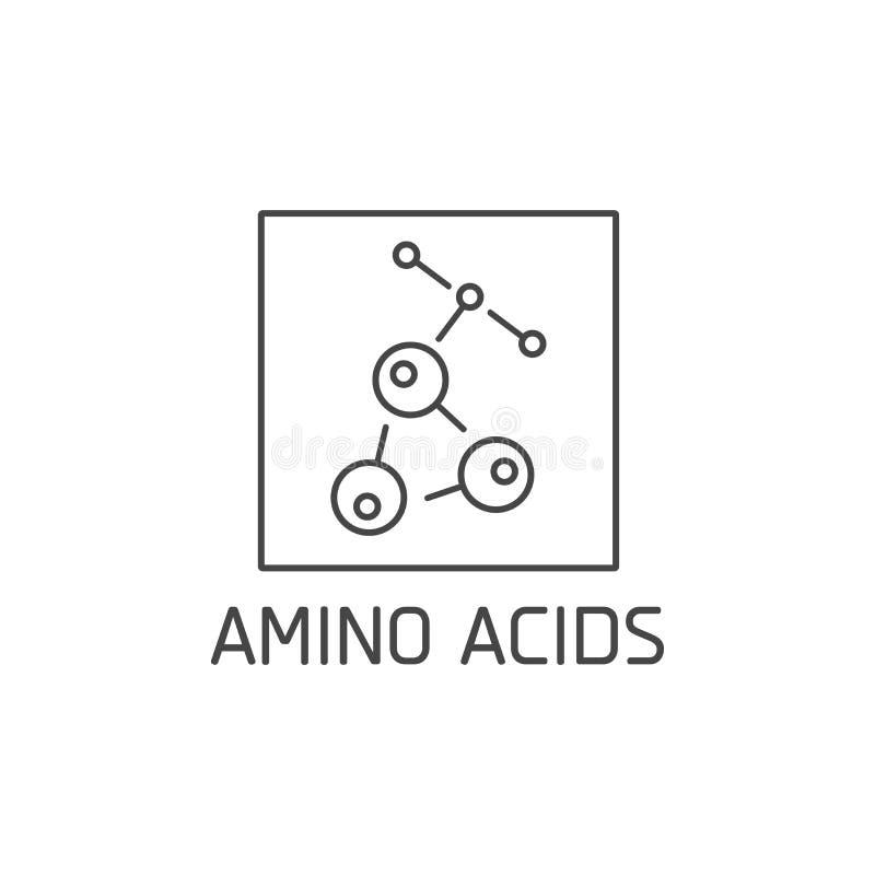 E Het ontwerp van het aminozurenteken Symbool van het gezonde eten royalty-vrije illustratie