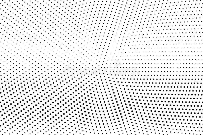E Horizontale gradi?nt op micro- dotwork textuur Gecentreerde gestippelde halftone royalty-vrije illustratie