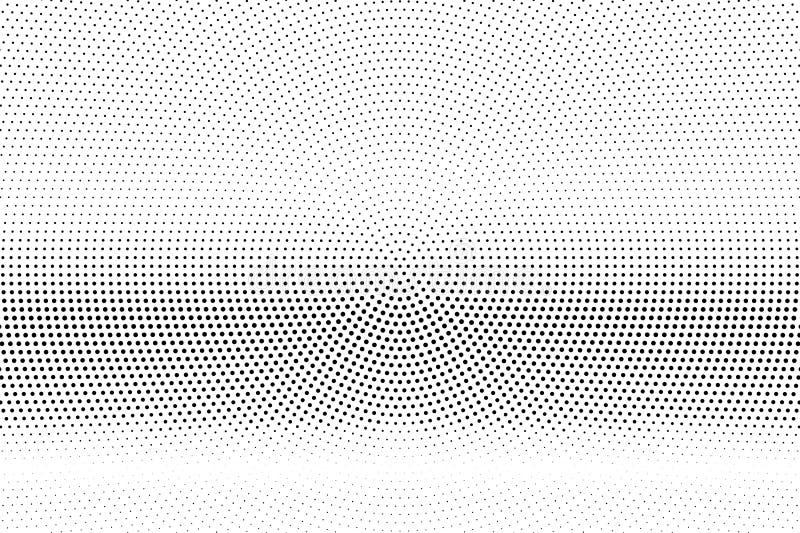 E Horizontale puntgradi?nt Kleine dotworkoppervlakte Frequente gestippelde halftone royalty-vrije illustratie