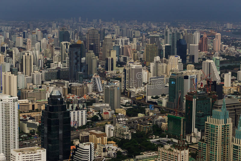 E Horizonte de Bangkok, fotografía de archivo