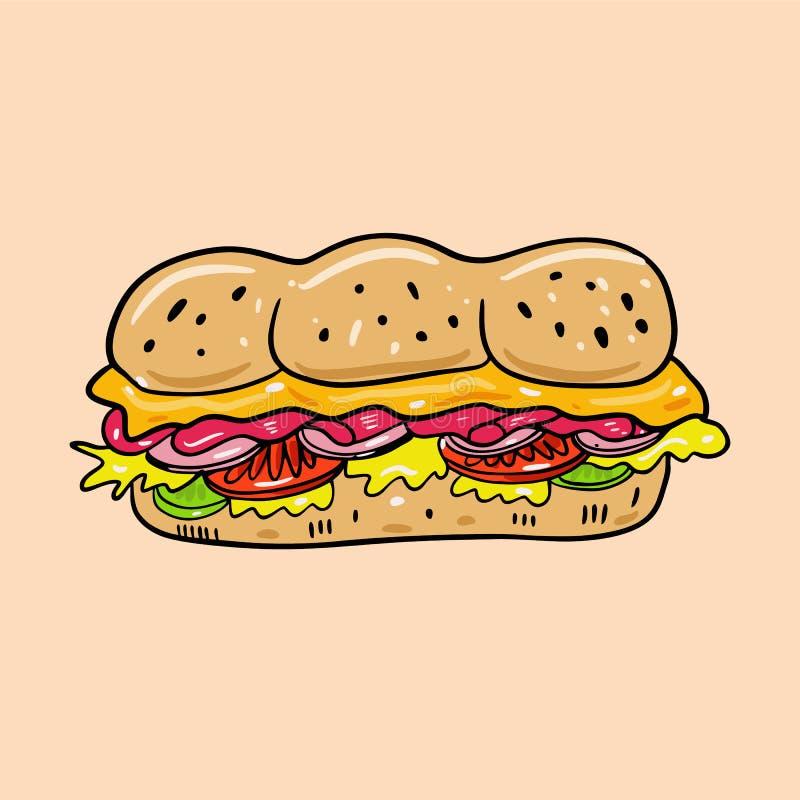 E i 逗人喜爱的食物 r 皇族释放例证